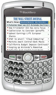 Le Wall Street journal disponible sur BlackBerry