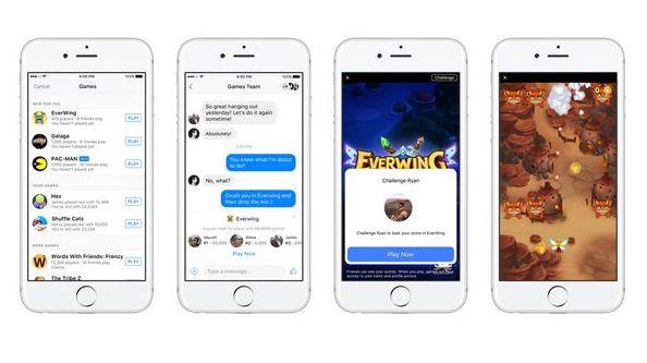 Facebook Messenger propose des Instant Games