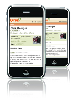 Qype disponible en version iPhone