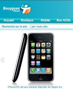 Bouygues Telecom commercialise l'iPhone à partir de 29 euros