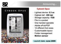 Opus : Un nouveau Cybook chez Bookeen