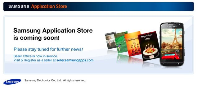 Lancement imminent du Samsung Application Store