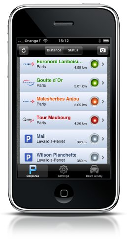 Navx annonce Parking Dispo sur iPhone