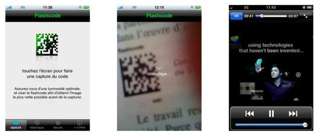 Le flashcode débarque sur iPhone et Google phone