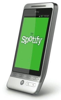 Spotify s'invite sur les smartphones britanniques