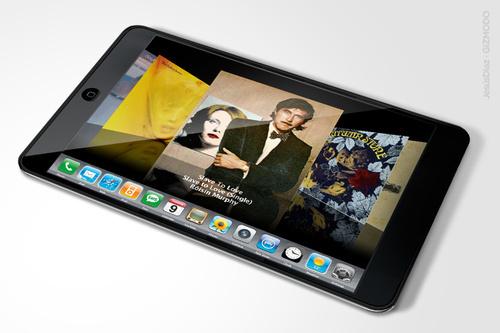 Vue de graphiste d'une hypothétique tablette Apple