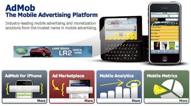 Publicité : Google rachète la régie mobile AdMob