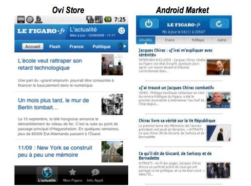 Le Figaro disponible sur Nokia OVI et Google Android
