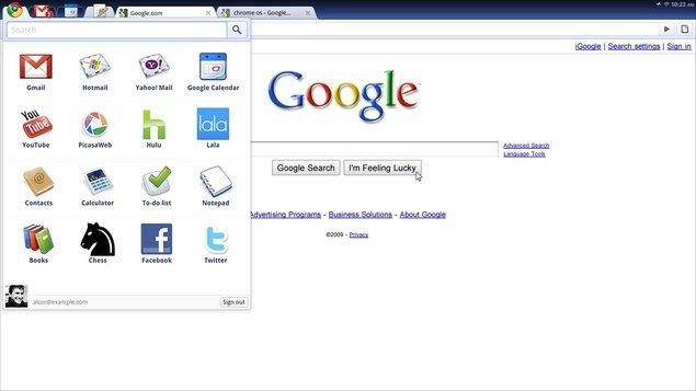 Google Chrome OS  sera disponible fin 2010