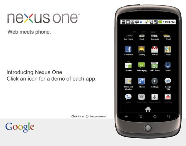 Google officialise son Nexus One