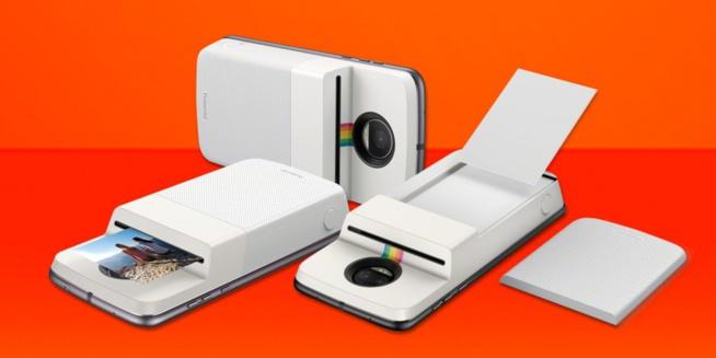 le dernier moto mod de motorola est une imprimante photo insta share de polaroid. Black Bedroom Furniture Sets. Home Design Ideas