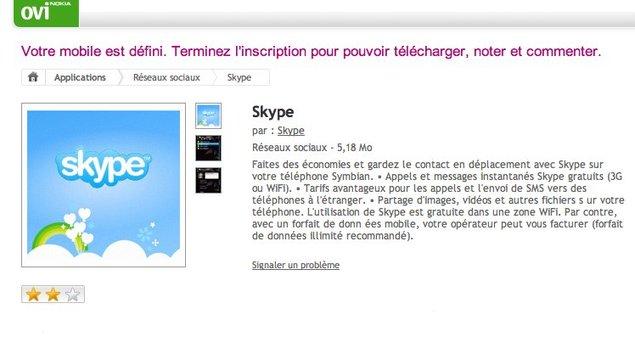 Skype enfin disponible sur les smartphones Symbian S60