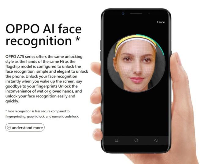 Les nouveaux OPPO A75 et A75s sont dotés d'écrans de 6 pouces et de la reconnaissance faciale