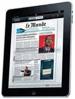 Le Monde sera payant sur l'iPad