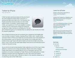 Twitter rachète Tweetie et lance sa propre application iPhone