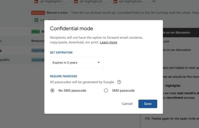 Gmail – bientôt des emails qui s'autodétruisent