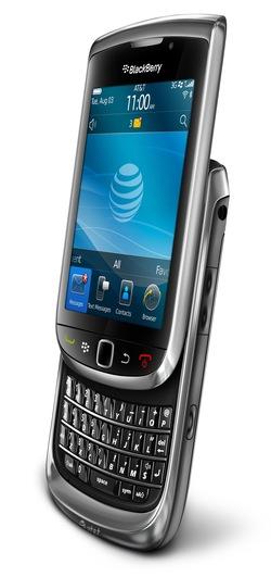 Clavier et tactile dans le nouveau Blackberry Torch 9800