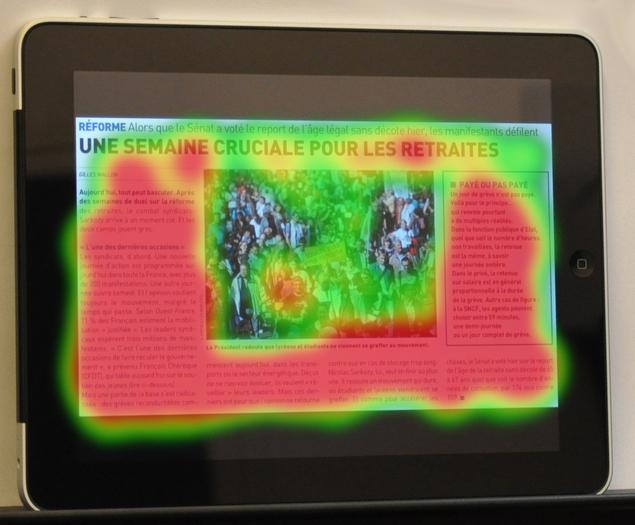 Eye-tracking : L'iPad se lit presque comme un journal
