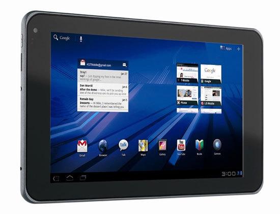 G-Slate : LG dévoile une Tablette 4G sous Android 3.0