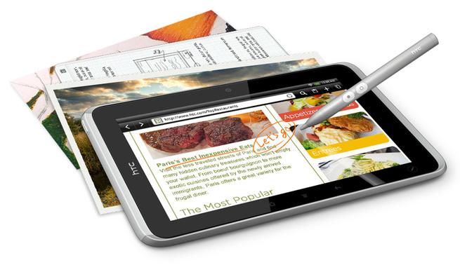 HTC opte pour le stylet pour sa tablette HTC Flyer