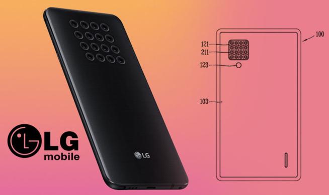 LG : Un brevet de smartphone avec un appareil photo doté de 16 objectifs