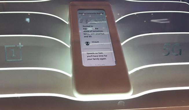 Ceci est le prototype du OnePlus 5G