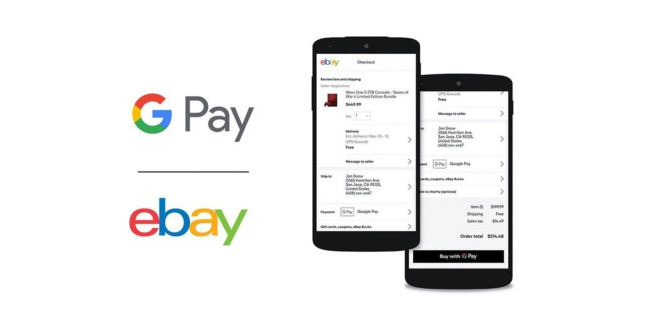 eBay va ajouter le support de Google Pay sur son application Android et son site Web