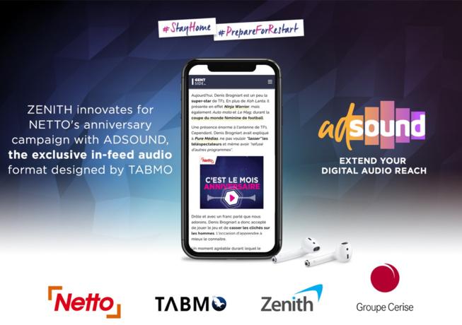 Zenith adopte le format in-feed audio « AdSound » développé par Tabmo.