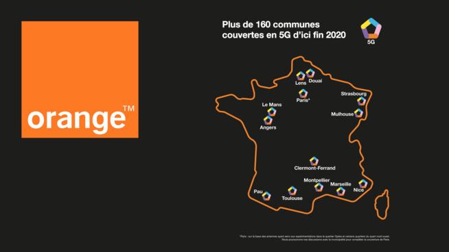 Orange lancera la 5G dans 15 villes françaises le 3 décembre