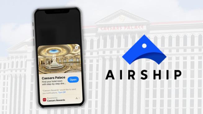"""Airship déploie les """"App Clips"""" pour son client Caesar's Palace"""