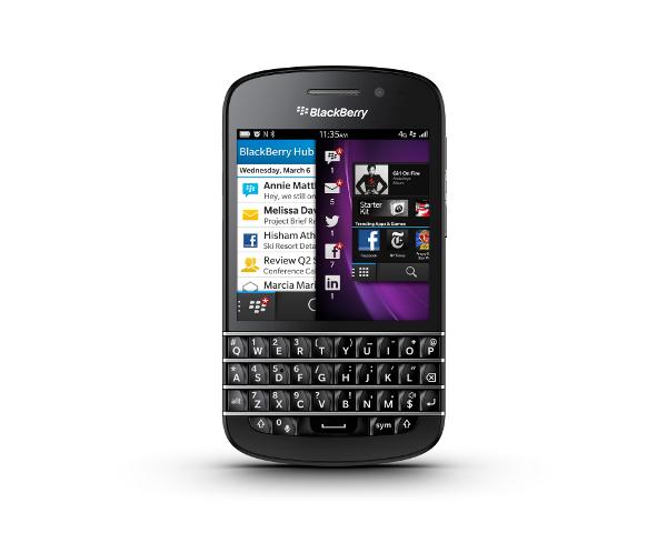 BlackBerry, le Q10 bientôt disponible en France