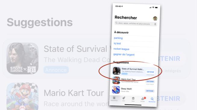 Apple dévoile un nouvel emplacement publicitaire dans l'App Store
