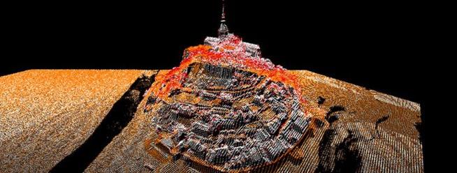 Nuage de points - Mont Saint-Michel  (c) IGN