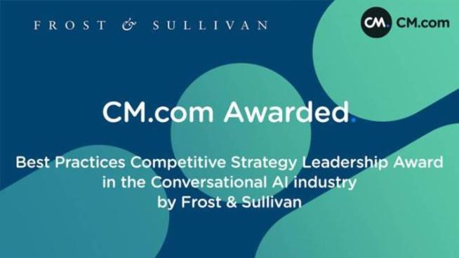 CM.com reconnu par Frost & Sullivan pour son expertise en IA conversationnelle
