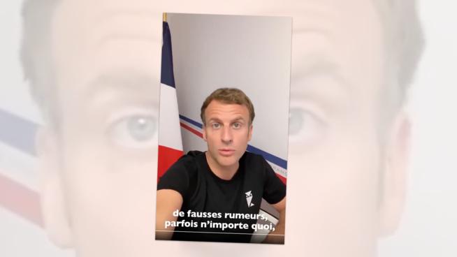 Emmanuel Macron sur Instagram pour dénoncer les Fake News