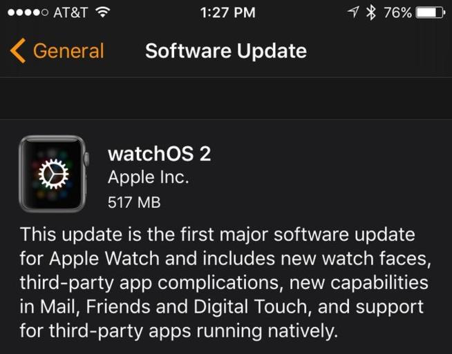Après un léger retard, watchOS 2 arrive enfin sur l'Apple Watch