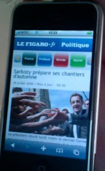 LeFigaro en version iPhone