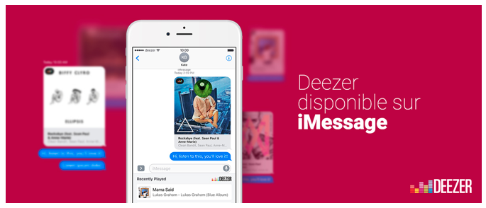 Deezer s'invite dans iMessage d'Apple