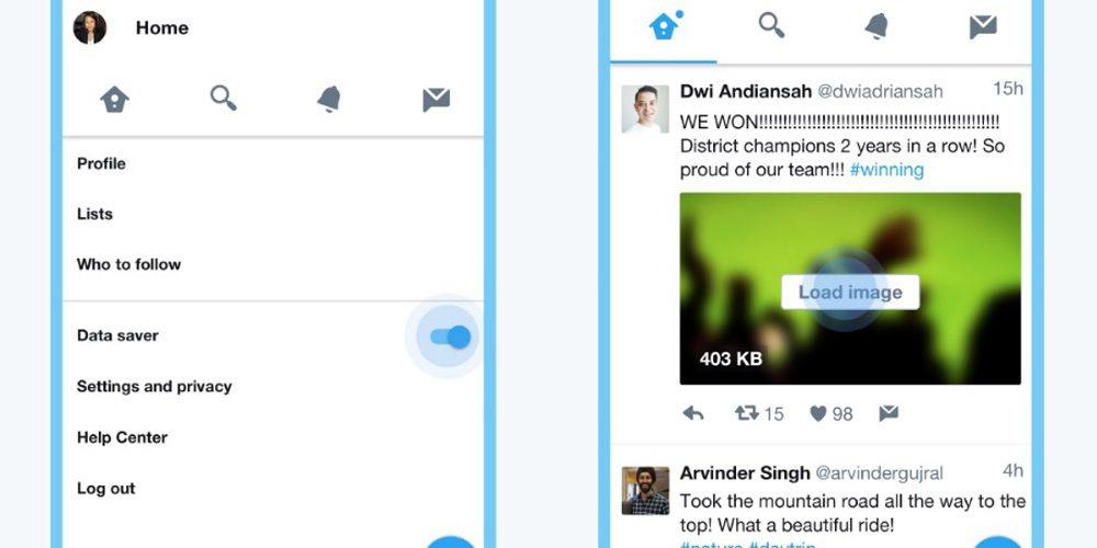 Twitter Lite disponible, nécessite moins d'espace de stockage, utilise moins de data