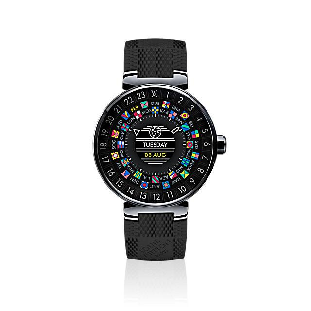 Louis Vuitton lance sa première montre Android Wear, à partir de 2 300 euros