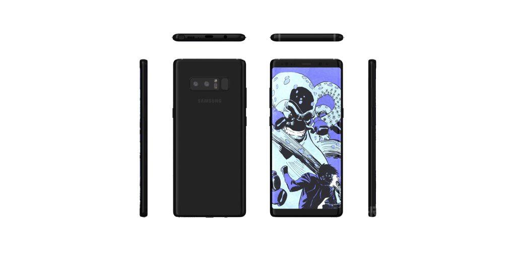 Nouveaux rendus du Galaxy Note 8 avec Infinity Display et capteur d'empreinte arrière