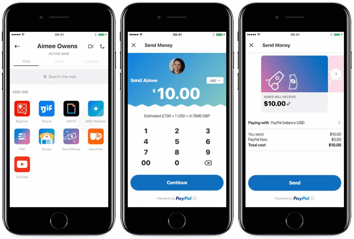 L'application Skype permet désormais d'envoyer de l'argent (via PayPal)
