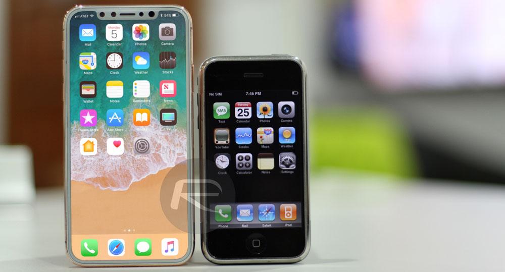 Comparaison taille d'écran iPhone 8 avec le 7 Plus et tous les autres iPhones