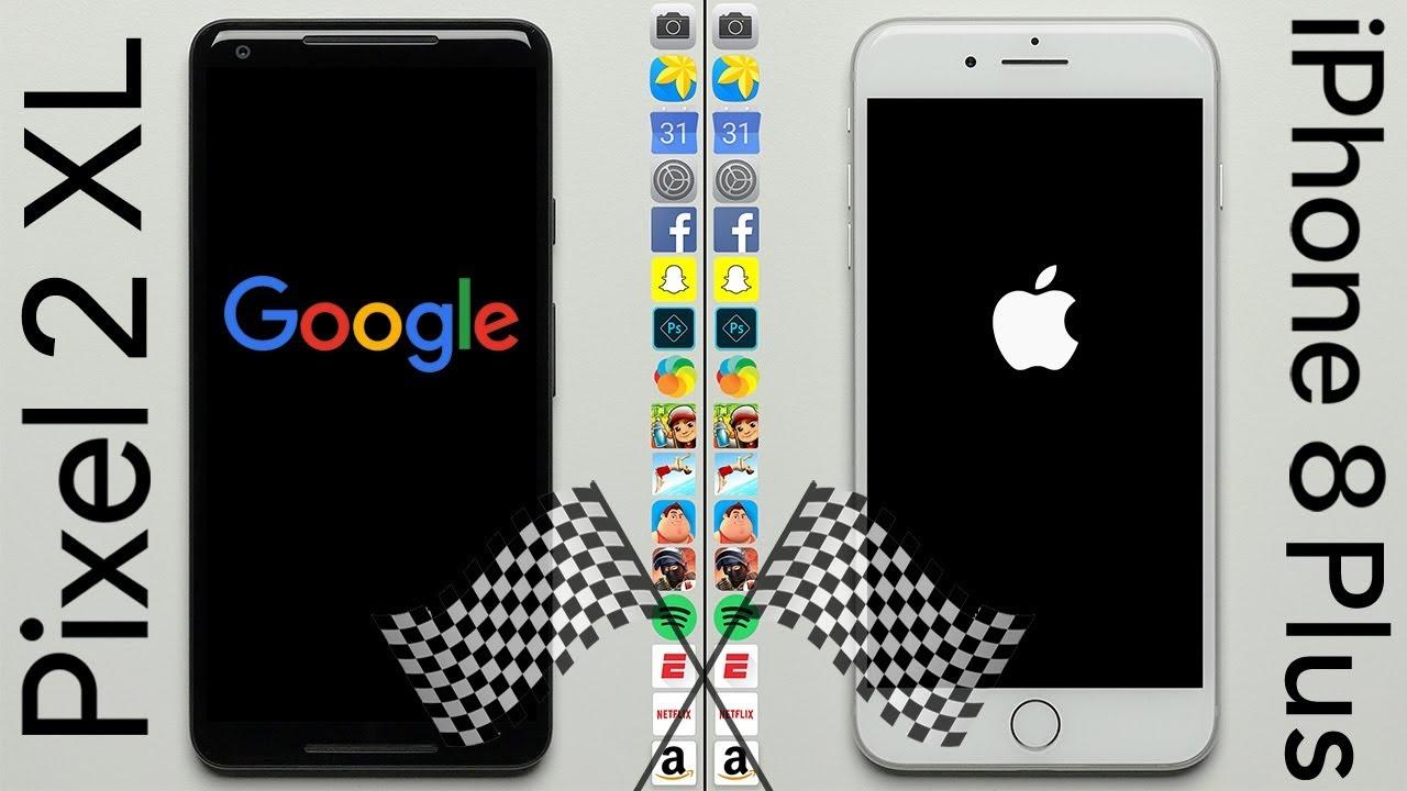 Test de rapidité : Pixel 2 XL Vs iPhone 8 Plus [Vidéo]