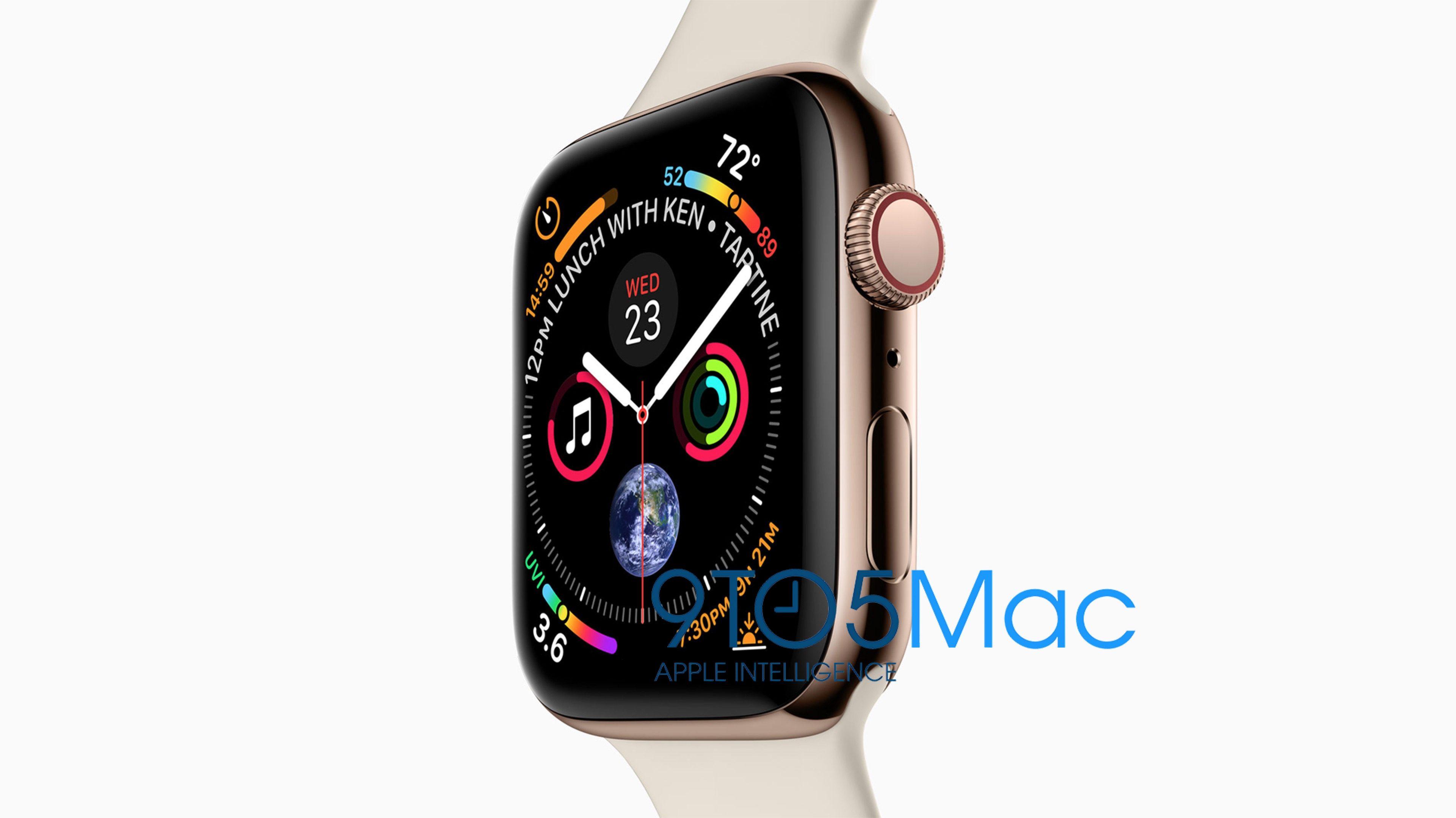 L'Apple Watch Series 4 révélée – écran plus grand, watch face plus dense, et plus…