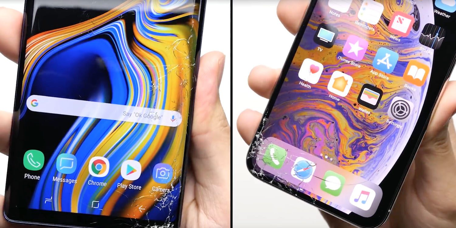 Tests de chute : l'iPhone XS survit à de multiples chutes, mais perd face au Samsung Note 9