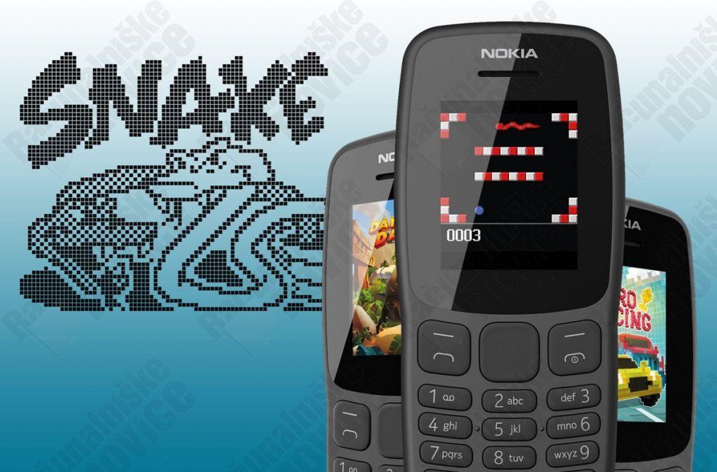 Le Nokia 106 est doté d'un écran de 1,8 pouce, et est parfait pour jouer à « Snake »