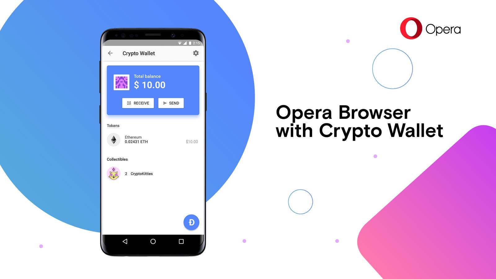 Opera lance un portefeuille de crypto-monnaie dans son navigateur Android