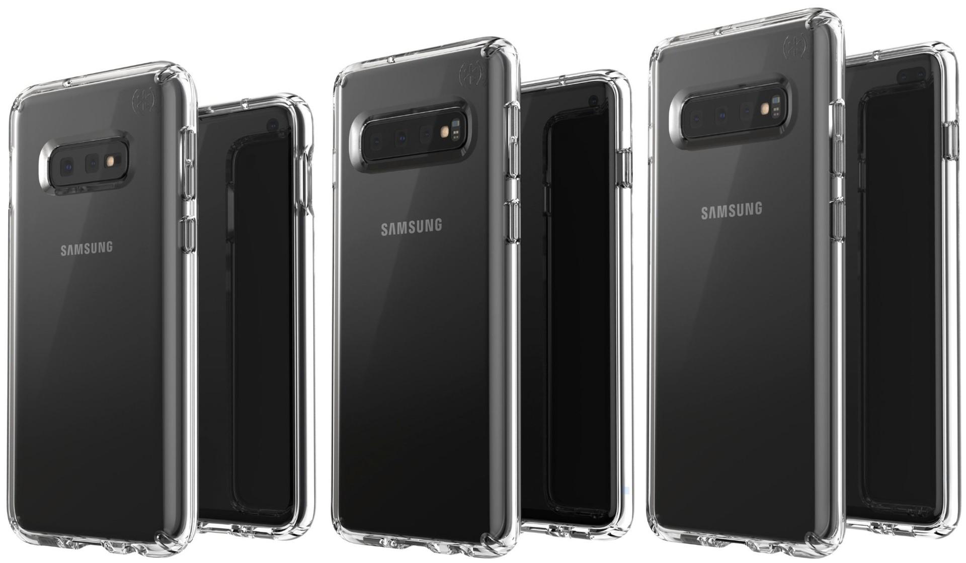 Les trois variantes de la gamme Samsung Galaxy S10 en fuite