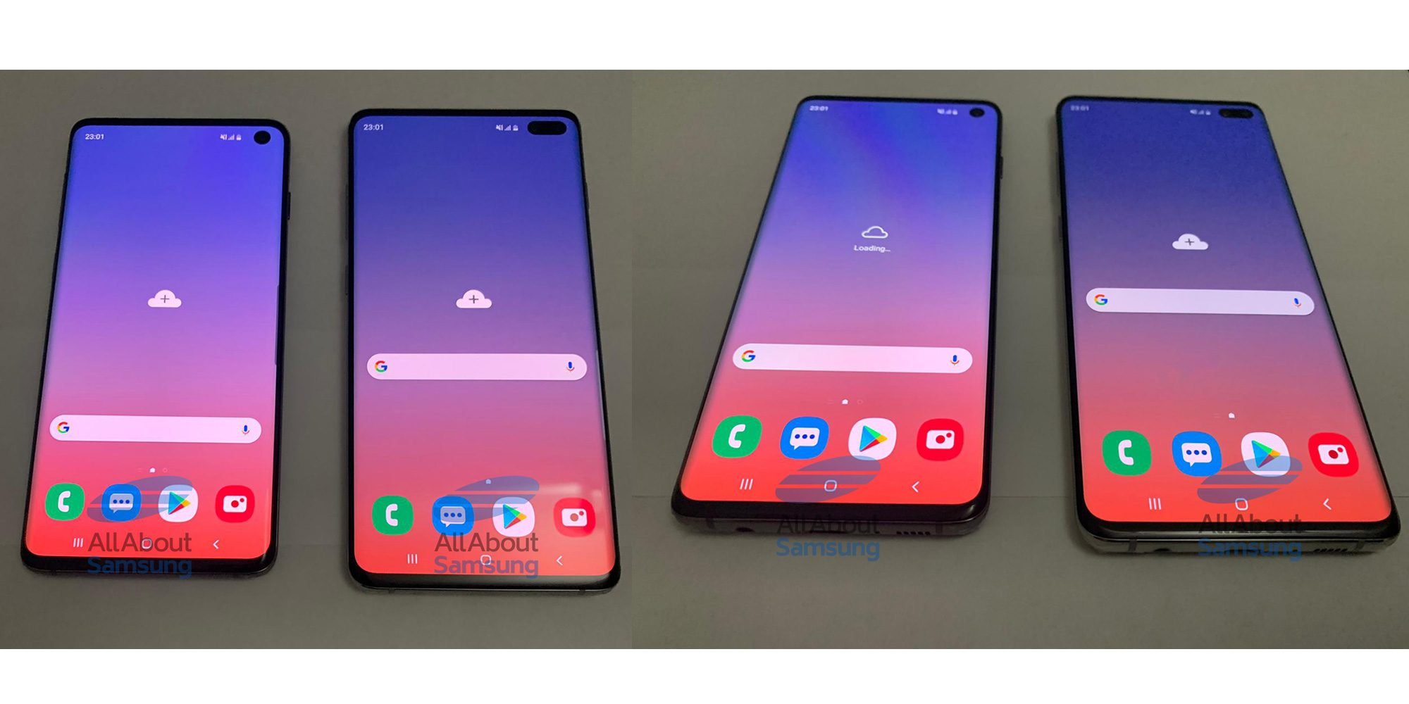 Une fuite qui montre les Samsung Galaxy S10 et S10 Plus dans toute leur splendeur